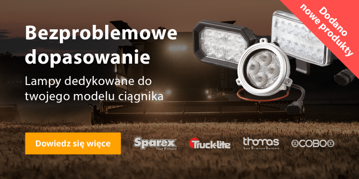 Dioda LED dopasowania ciągnika